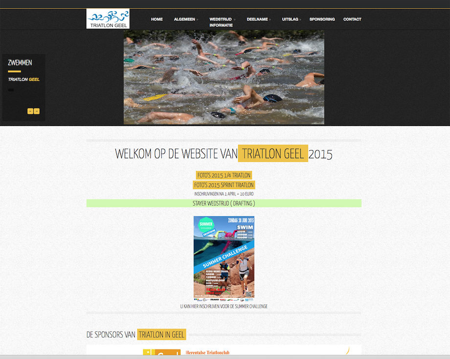 triatlon geel / webdesign-bb